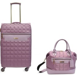 Tahari Quilted 2-Piece Carry On Spinner Luggage Set