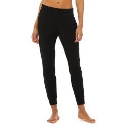 Alo Yoga Unwind Sweatpant - Black - Size S - Performance Fabric