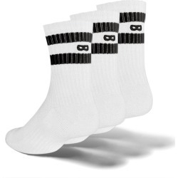 Whiteout Striped Ribbed Women's Cushion Ankle Socks 3 Pack