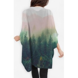 Cocoon Wrap - Mountain Landscape Paint in Brown/Green/White by Always Seek Original Artist found on Bargain Bro India from SHOPVIDA for $110.00
