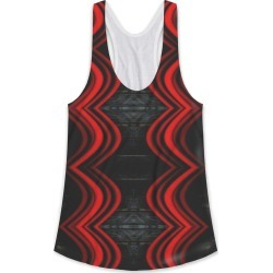 Printed Racerback Top - Untitled in Black/Brown/Red by VIDA Original Artist found on Bargain Bro India from SHOPVIDA for $45.00