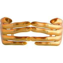 Jeremy Scott Hands Sunglasses in Metallic Gold found on MODAPINS from Linda Farrow for USD $259.95