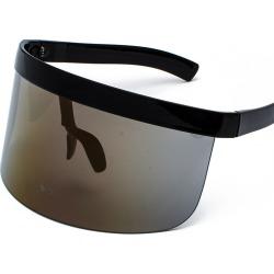 Costbuys  Black huge oversized sunglasses man vintage A Oval yellow red large sun glasses women sunscreen UV400  LXL - black gol