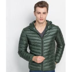Costbuys  White Duck Down Jacket Men Autumn Winter Warm Coat Men's Ultralight Duck Down Jacket Male Windproof Parka - Green / XL