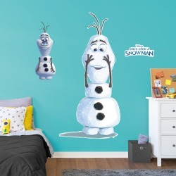 Olaf: No Nose - Frozen - Once Upon A Snowman - Officially Licensed Disney Removable Wall Decal Life-Size Character + 2 Decals by