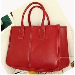 Costbuys  Hot Sale Women Bag Fashion PU Leather Women's Handbags Top-Handle Bags Tote Women Shoulder Messenger Bag   LL423 - Red