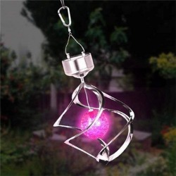 Costbuys  Modern outdoor solar lamp Stainless Steel + Plastic Solar light Color Changing Solar Powered Wind bell light