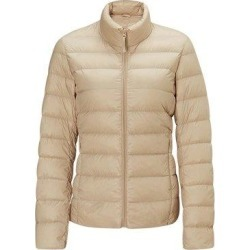 Women's Lightweight Slim-fit Down Jacket, Khaki / M / No cap