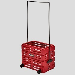 Tourna Ballport Deluxe with Wheels 80 Balls Ball Hoppers Red