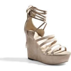Tamara Mellon Seeker Sand Suede Sandals, Size - 38