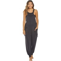 Free People Women's Movement Jump Start Jumpsuit - Black Small Spandex