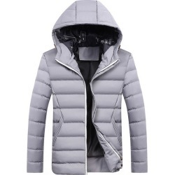 Costbuys  Winter Parkas Men's Coats Warm Thick Hooded Padded Mens Casual Jackets Male Overcoat Mens Brand Clothing 4XL - Grey /