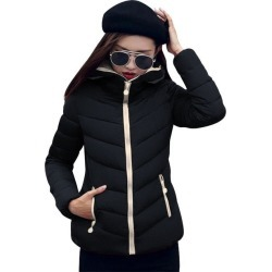 Costbuys  Winter Coat Women Long Parka Casual Outwear Military Hooded Thickening Cotton Coat Winter Jacket For Coat Women Clothe