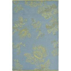 Tonquin Blue Designer Hand Tufted Rug found on Bargain Bro from Simply Wholesale for USD $1,237.61