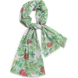 Natural Cotton Scarf - Rowan Mountain Ash in Blue/Green/Red by VIDA Original Artist found on Bargain Bro Philippines from SHOPVIDA for $35.00
