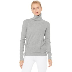 Clarity Long Sleeve Sweatshirt in Dove Grey Heather, Size: Small | Alo Yoga� found on Bargain Bro India from Alo Yoga for $88.00