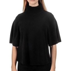 Black Roll Neck Cashmere Sleeved Poncho found on Bargain Bro from black.co.uk for £128