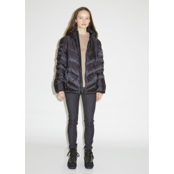 Woolrich Chevron Hooded Down Jacket Black Size: Small