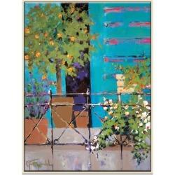 Balcony Appeal Framed Canvas Print
