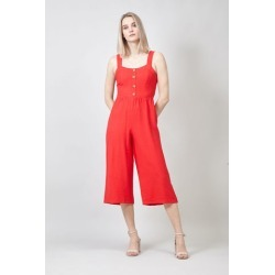 Button Front Culottes Jumpsuit found on Bargain Bro UK from Izabel London UK