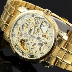 Mens Automatic Hollow Out Man Mechanical title=