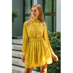Sweet Yellow Floral Dress found on MODAPINS from cupshe.com for USD $19.99