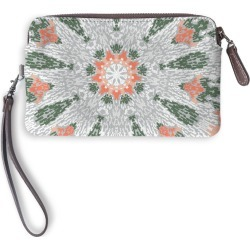 Leather Statement Clutch - Bohemian Abstract in Brown/Green/Orange by Always Seek Original Artist found on Bargain Bro India from SHOPVIDA for $75.00