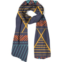 100% Cashmere Scarf - Ethnic Geomteric in Blue/Brown/Green by Haris Kavalla Original Artist found on Bargain Bro India from SHOPVIDA for $145.00