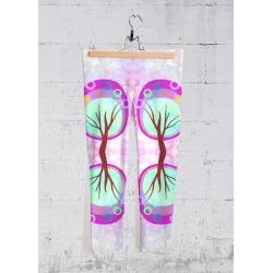 Yoga Capri Pants - Purple Abstract Trees in Cyan/Pink/Purple by VIDA Original Artist found on MODAPINS from SHOPVIDA for USD $70.00