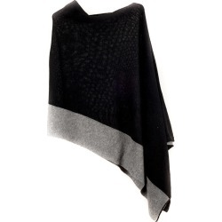 Black and Grey Bordered Cashmere Poncho found on Bargain Bro UK from black.co.uk