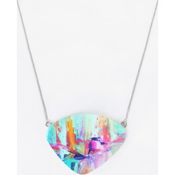 Oversized Statement Pendant - O. Pendant Dreams 30 in Blue/Cyan/Purple by VIDA Original Artist found on MODAPINS from SHOPVIDA for USD $60.00
