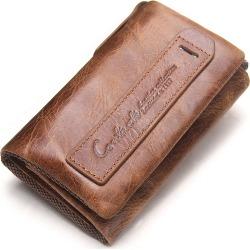 Costbuys  Men Wallet Genuine Leather Key Case Key Holder Wallet Coin Purse Housekeeper Car Key Organizer Small wallet clutch Bag