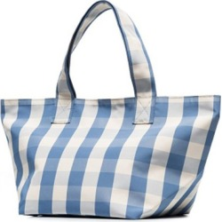 Costbuys  Famous women bag new simple lattice runway bag Tote pack large capacity portable shopping bag Top-Handle Bags - blue s
