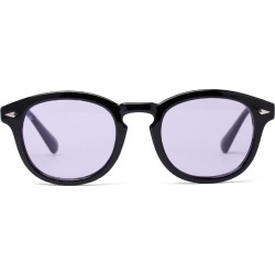 Costbuys Sunglasses Women Round Purple Sunglasses Men Black Frame Bar Sunglasses Trendy Designer Spectacles Gafas - Purple