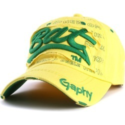 Costbuys  Snapback hats baseball cap hats hip hop fitted cheap hats for men women gorras curved brim hats Damage cap - yellow /