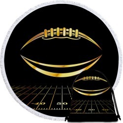 Gold Football Beach Towel found on Bargain Bro India from Simply Wholesale for $35.46