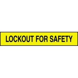 Lockout For Safety Adhesive Tank & Pipe Label