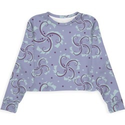 Modern Eco Sweatshirt - Spiraled Floral Stars Lil by VIDA Original Artist found on Bargain Bro India from SHOPVIDA for $80.00