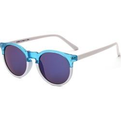 Costbuys  Round Sunglasses Retro Women Ladies Vintage Sunglasses Male Fashion for Travel Brand Designer JH9003 - Blue White
