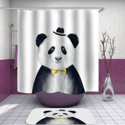 Funny Elegant Panda Painting Shower Curtain found on Bargain Bro India from Simply Wholesale for $54.39