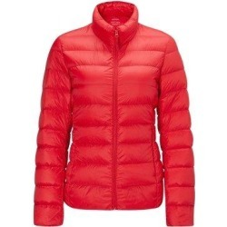 Women's Lightweight Slim-fit Down Jacket, Red / L / No cap