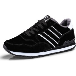 Costbuys  Athletic Trainers Running Shoes Comfortable Cushion Outdoor Jogging Walking Athletic Sneakers - black fur / 7