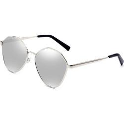 Costbuys  Retro Oval Sunglasses Men Metal Sun glasses Ladies Mirror Glasses Vintage Transparent oculos de sol masculino - Silver