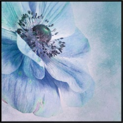 Shades Of Blue Canvas Print With Floating Frame