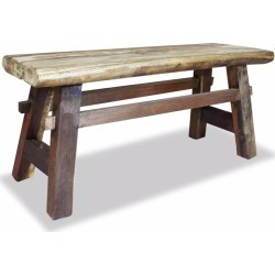 Bench Solid Reclaimed Wood 100 x 28 x 43 Cm