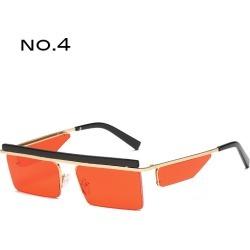 Costbuys  Square Sunglasses Women Fashion Designer Square Punk Retro Sunglasses Men  Rimless Glasses Female Oculos de sol - NO.5