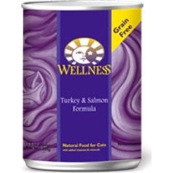 Canned Cat Food Turkey and Salmon 5.5 oz(case of 12) by Wellness