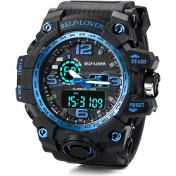 Costbuys  Watch Men's Sport Watch Dual Display Analog Digital LED Electronic Wrist Watches Gift Fast Send - B found on MODAPINS from cost buys for USD $61.10