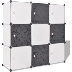 Storage Cube Organizer With 9 Compartments - Black/White found on Bargain Bro Philippines from Simply Wholesale for $61.83