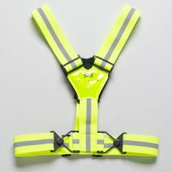 Amphipod Xinglet Strobe Plus LED Reflective, Night Safety Hi-Viz Green/Silver